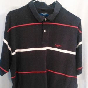 Nautica Golf Polo Style Athletic Shirt (L)
